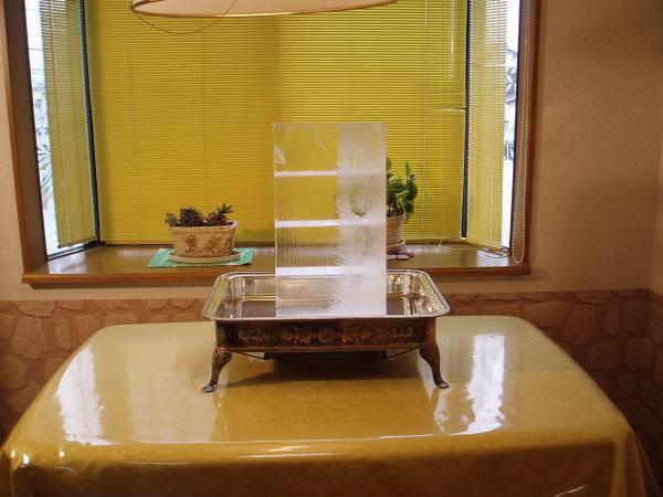 氷彫刻飾り台